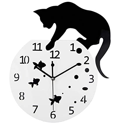 Hey Magneto CAT Wall Clock - 3D Big Watch Quartz Clock