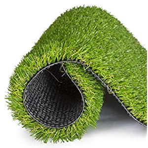 SavvyGrow Artificial Grass for Dogs Pee Pads – Premium 4 Tone Puppy Potty Training, Easy to Clean with Drain Holes – Fake Astro Turf Dog Mat Pad – Non Toxic for Pet (Many Sizes)(2.3 ft x 3.3 ft)