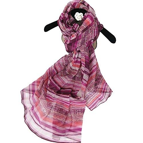 La mode la mode en soie Foulard en Soie femmes urbaines avec deux Châles Long)