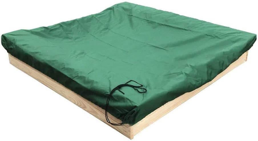Breaden Sandbox Covers With Drawstring Green Bunker Cover With Traction Rope 95 UV Resistant Childrens Toy Garden Small Pool Waterproof Sunshade