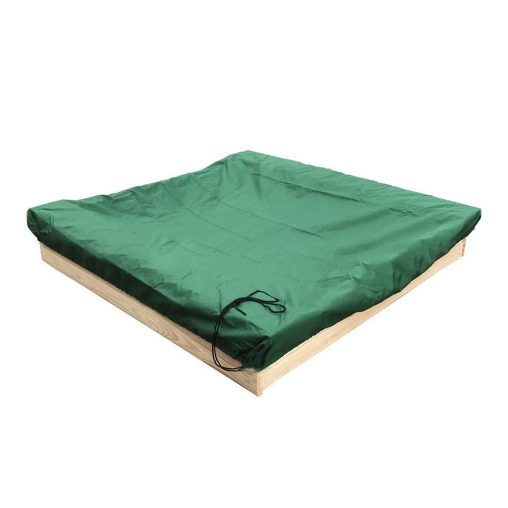 Funarrow Green Sandbox Covers with Drawstring Multi-Purpose Waterproof Poly Tarp Cover Cover Pool Cover 95 UV Protection Dustproof, Avoid The Sand and Toys Contamination by Funarrow (Image #6)