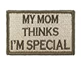 (US) My Mom Thinks I'm Special Patch Fully Embroidered with Velcro Morale Tags (Subdued)