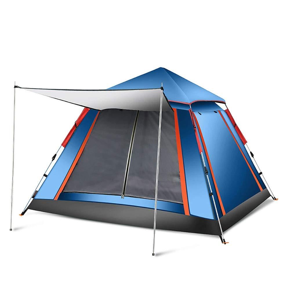 AnoJm Tente de Camping Portable 3-4 Personnes imperméable Configuration Rapide Famille Prougeection UV de Tente de dôme de Plage Profitez des activités de Vacances (Couleur   bleu, Taille   Free Taille) bleu Free Taille