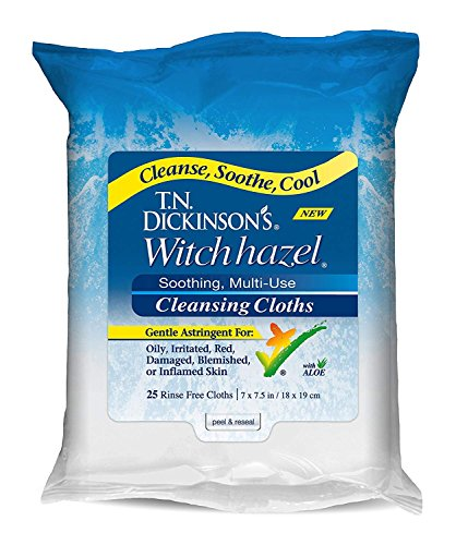 T.N. Dickinson's Witch Hazel Cleansing Cloths, 25 Cloths (Pack of -