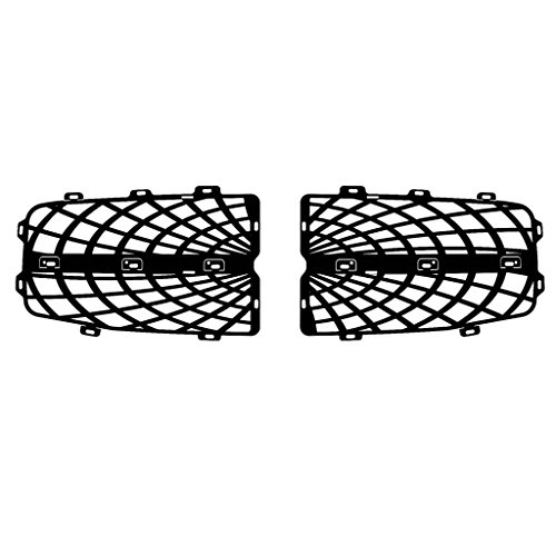 (Ferreus Industries Black Powdercoat Spider Web Grille Grill Insert Trim fits: 2004-2006 Dodge Durango TRK-148-07black)