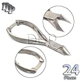 DDP SET OF 24 PROFESSIONAL MOON SHAPE TOENAIL CLIPPER CUTTER CHIROPODY PODIATRY INSTRUMENTS