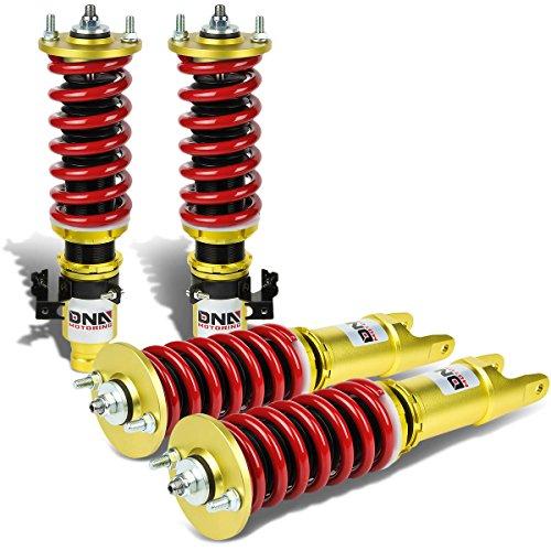 For Honda Civic Suspension Strut Damper with Coilover Complete Kit EG EJ DC (Red & Gold) ()