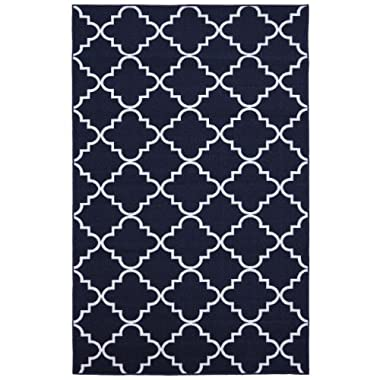 Mohawk Home Soho Fancy Trellis Printed Rug, 5'x7', Navy