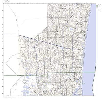 Amazon.com: Davie, FL ZIP Code Map Laminated: Home & Kitchen on