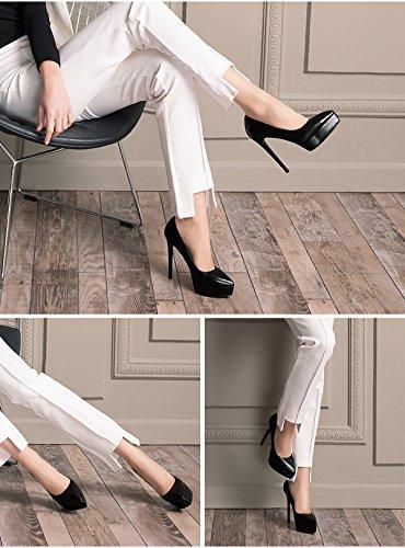 Dames En Mariée Sexy Pompes De Pointu Printemps Bout Black Soirée Cuir 10cm Haute Talons Belle Femmes Chaussures fxIFXwBx