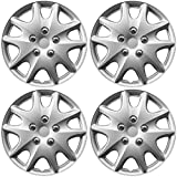 OxGord Hub-Caps for Select Toyota Solara (Pack of 4) 15 Inch Silver Wheel Covers