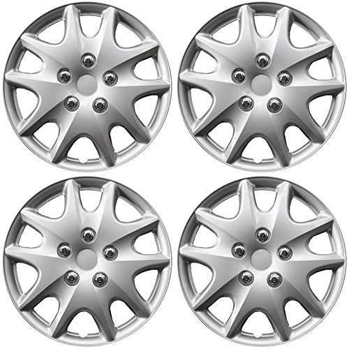 OxGord Hub-Caps for Select Toyota Solara (Pack of 4) 15 Inch Silver Wheel (1994 Ford Mustang Wheel)