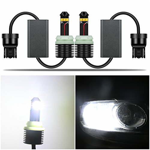 Alla Lighting 1300 Lumens 21W CREE Extremely Super Bright 6000K Xenon White 7443 7440 7441 W21W 7440NA 7444NA WY21W LED Bulbs for Turn Signal Blinker Light Lamps Replacement