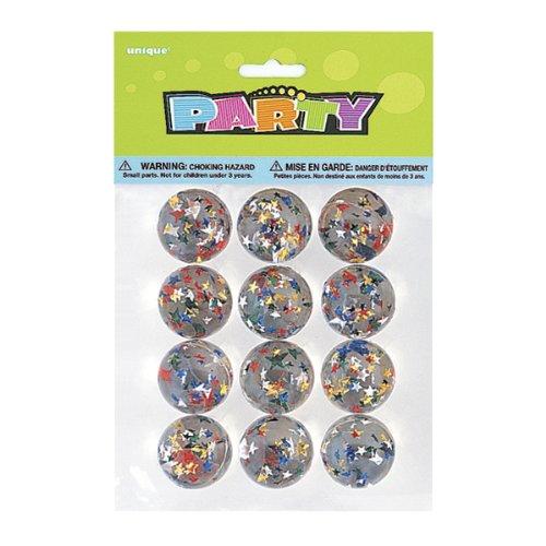 Confezione da 12 45002 Trasparente Unique Party- Palline Rimbalzanti