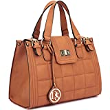 Quilted Satchel Designer Purse MKY Top Handle Handbag w/ Shoulder Strap