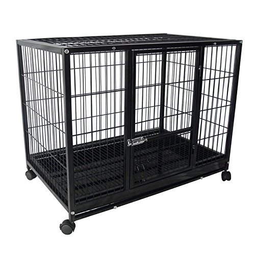 37-heavy-duty-metal-dog-pitbull-cage-crate-kennel-playpen-for-dogs-42-to-70-lbs