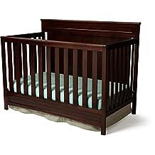 Delta Children 7733-607 Princeton 4 in 1 Convertible Crib, Black Cherry Espresso