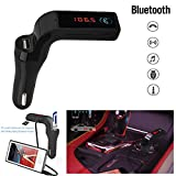 Clearance Autoday Automotive Car Bluetooth Handsfree TF Card U Disk 3.5mm Line MP3 Player USB Charger FM Transmitter Radio Aux Speaker (ship from US)