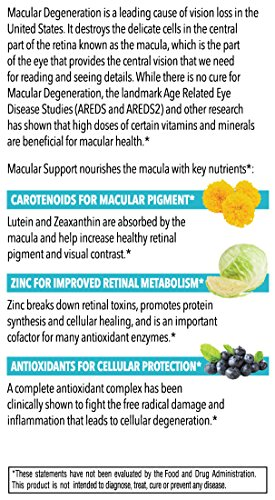 Dr. Krawitz AREDS 2 Macular Support Eye Vitamins - 60 veg caps by Dr. Krawitz Professional Eye Care Supplements (Image #3)