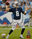Marcus Mariota Autographed Tennessee Titans 8x10 Passing PF. Photo- JSA W Auth