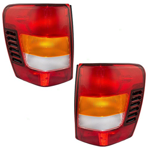Taillights Tail Lamps with Circuit Boards Driver and Passenger Replacements for 02-04 Jeep Grand Cherokee SUV 55155138AJ 55155138AJ - Jeep Grand Cherokee Lamp