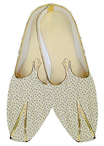 Impreso INMONARCH Crema Hombres Boda MJ015976 Zapatos Algodón qnFzUpZnw