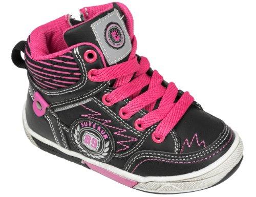 Gibra, zapatillas para niño Negro - Noir - Nero / Rosa