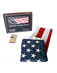 American Flag 3x5 ft. Nylon SolarGuard Nyl-Glo by Annin Flagm...