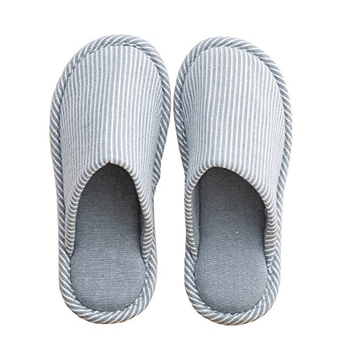 TEERFU Womens Mens House Slippers Winter Warm Comfy Anti-slip Indoor Shoes Knitted Comfort Blue KF8lRPY