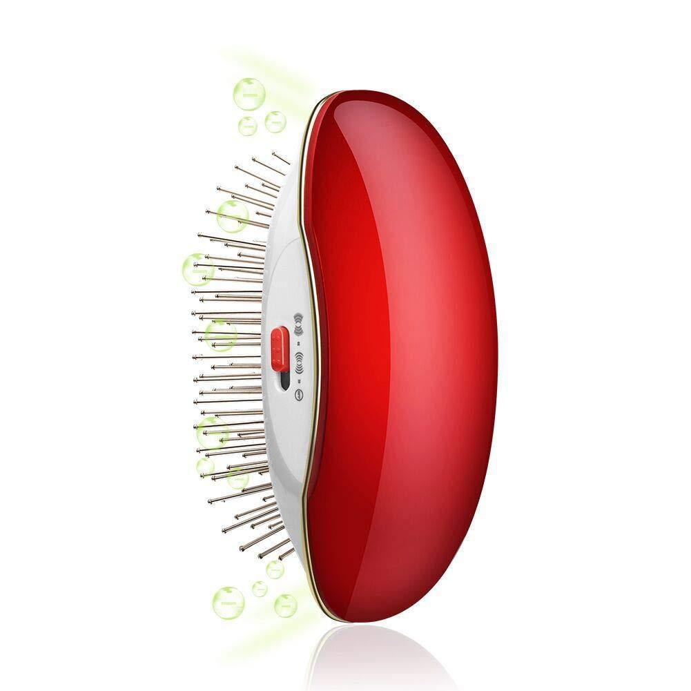 Hair Brush, Ionic Hair Brush with Stainless Steel Tooth Comb,Portable Round Hair Brush Vibrating Scalp Massage Brush,Detangler Brush for Women, Men and Kids by EMMMSUN
