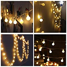 Naisidier 100LED 33 Feet Ball Globe Long String Lights Warm Color Warm Color Fairy Starry Light Garden Party Decoration (Warm White)