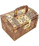 Pride Star Golden Wood Luggage Cosmetic Cases