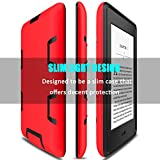 Kindle Paperwhite Case, Elegant Choise Dual Layer Anti-Scratch Shockproof Armor Defender Full-body Protective Case Cover for Amazon Kindle Paperwhite (Red/Black)