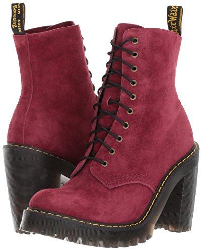 Dr martens Suede Kendra Boots Nubuck Eyelet 10 Bordeaux Womens xYYwqdrS