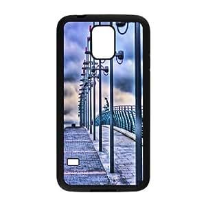 Yearinspace Bridge Samsung Galaxy S5 Cases Bridge Street Lights Design For Men, Case For Samsung Galaxy S5 Mini, {Black}