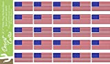 50 shades car decal - United States of America USA Country Flag Sticker Decal 1 Inch Rectangle Two Sheets 50 Total Pieces Kids Logo Scrapbook Car