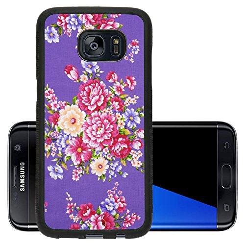Liili Premium Samsung Galaxy S7 Edge Aluminum Backplate Bumper Snap Case Traditional Chinese fabric sample Photo