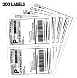 Shipping Label Printer - New Style Half Sheet Self Adhesive Shipping Labels for Laser & Inkjet Printers (200 labels)