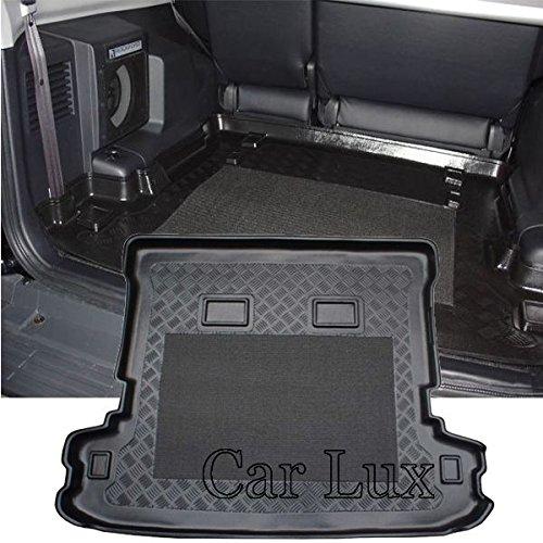 con antideslizante Pajero Largo 5 Puertas desde 2000 AR01386 Alfombra Cubeta Protector cubre maletero a medida para Montero Car Lux