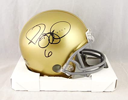 99f6554c52f Image Unavailable. Image not available for. Color  Jerome Bettis Autographed  Notre Dame Riddell Mini Helmet- Beckett Auth