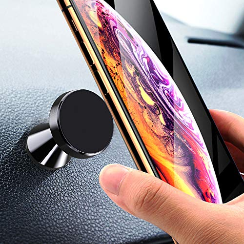 Magnetic Phone Car Mount, Amoner Universal Car Phone Holder for Dashboard, 360° Adjustable Magnet Cell Phone Mount Compatible with iPhone, Samsung, LG, GPS, Mini Tablet and More