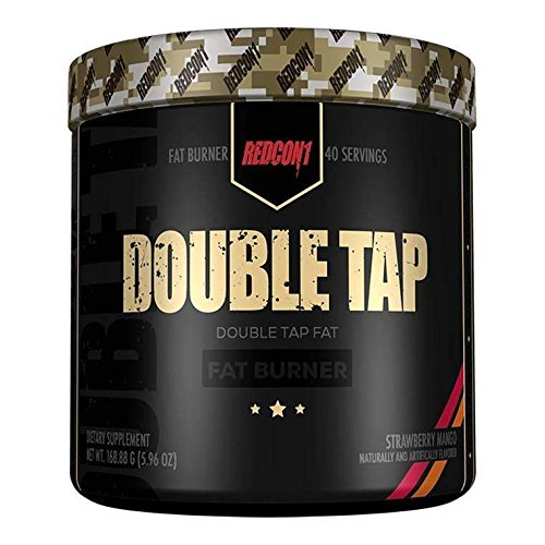 (Redcon1 Double Tap Thermogenic Fat Burner (30 Servings, Strawberry Mango),5.96 oz)