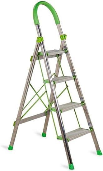 Casa Las escaleras de acero inoxidable anticorrosivos, de cuatro capas pedal de escalera de tijera dormitorio/escuela/aula/naranja-verde de plástico accesorios de diseño Engrosado: Amazon.es: Bricolaje y herramientas