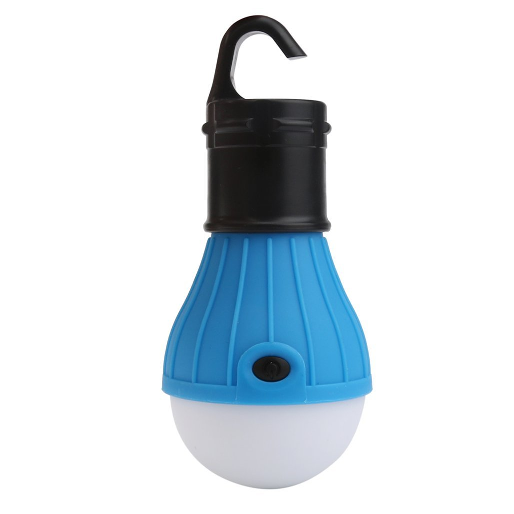 Outdoor Portable Hanging LED Camping Tent Light Bulb Fishing Lantern Lamp,Tuscom (Blue)