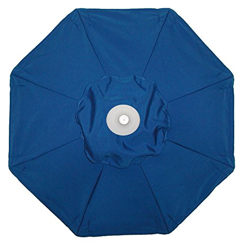 Galtech International 735W53 Manual Lift - 9' Round Umbrella, Choose Fabric Color: 53: Pacific Blue, Choose Pole Finish: W: White