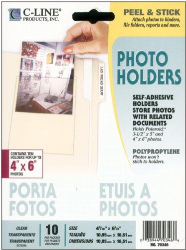 "Brand New Peel & Stick Photo Holders 4""X6"" 10/Pkg- Brand New"