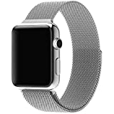 Milanese Loop Watch Band for 42mm/44mm For Apple Watch, Stainless Steel iWatch Replacement Strap - Silver