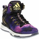 adidas Performance D Rose 6 Boost J Shoe (Big Kid),Black/Purple/Gold,7 M US Big Kid