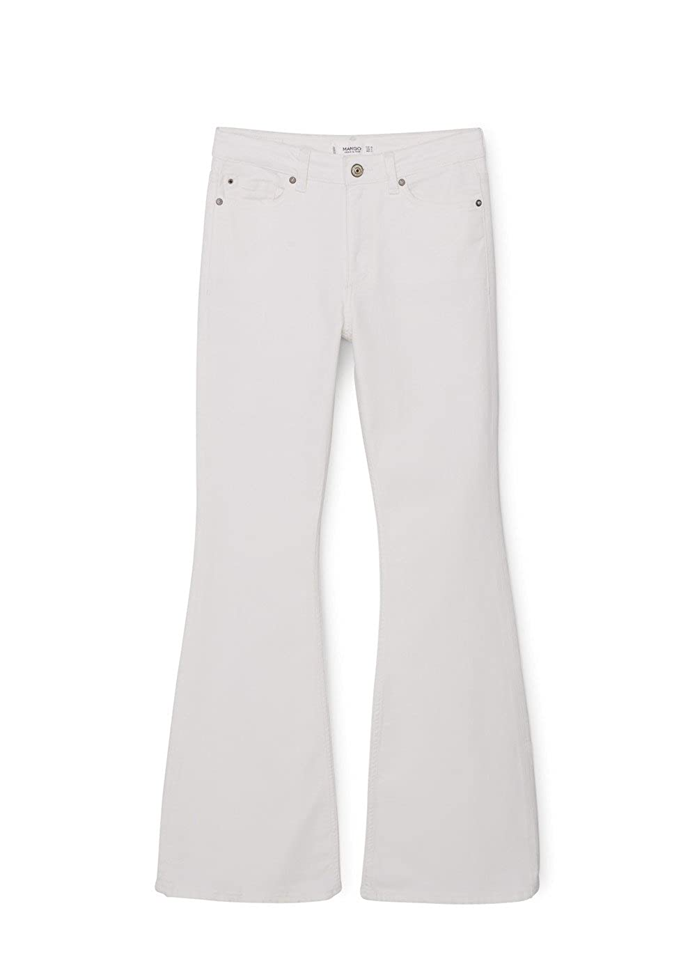 MANGO -Pantalones vaqueros de cintura alta Flare Mujer ...