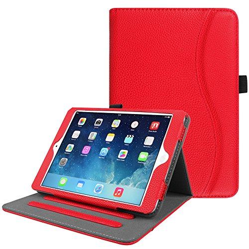 Fintie iPad Mini/Mini 2 / Mini 3 Case [Corner Protection] - [Multi-Angle Viewing] Folio Smart Stand Protective Cover with Pocket, Auto Sleep/Wake for Apple iPad Mini 1 / Mini 2 / Mini 3, Red